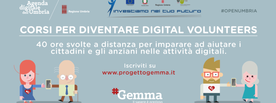 "Progetto Gemma: call per ""Digital Volunteers"" per soli 30 aspiranti facilitatori digitali"