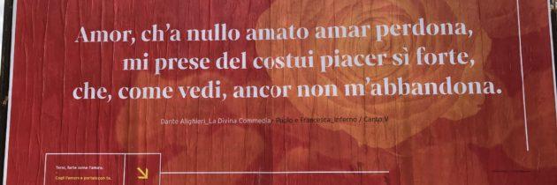 Un messaggio rosso d'amore da Terni, città di San Valentino
