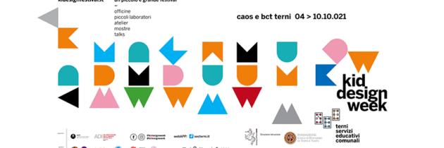 Kid Design Week a Terni, in Umbria, il festival sul segno grafico infantile, dal 4 al 10 ottobre 2021
