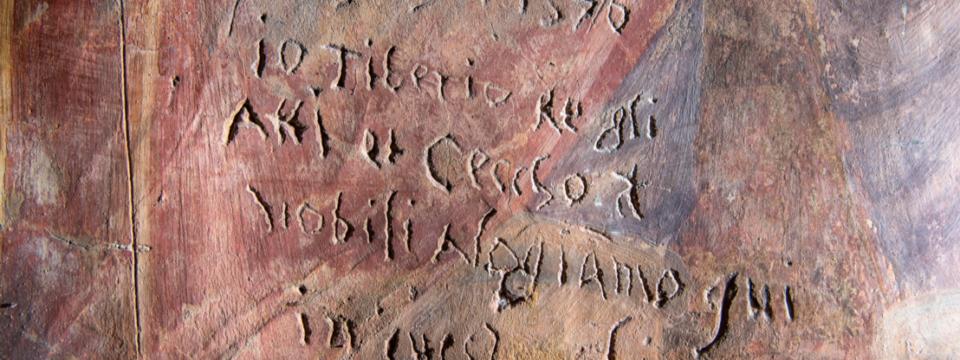 """Domenica 12 settembre a Collazzone la mostra diffusa """"Graffiti Umbri. Scritture spontanee medievali e moderne lungo i sentieri del pellegrinaggio"""""""